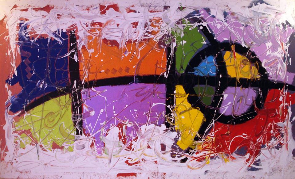 Khalid Belli, peinture sur toile