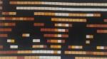 Sabah Outasse/ yeux  pixel/  Acrylique sur Toile  80cm/140cm