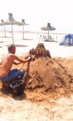 l'art éphémère, Essaouira beach